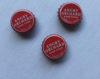 Set of 2 Angry Orchard Beer Cap Magnets
