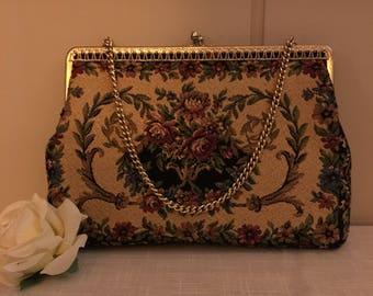 Vintage tapestry-purse