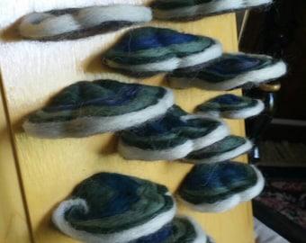 Wool Hand Felted Polypore Wall Art Blue Purple
