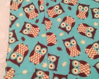 Owl Flannel Pillowcase