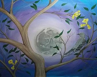 Mockingbird in the Moonlight