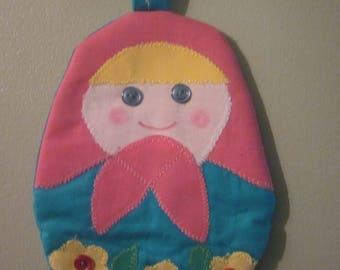 Matryoshka Doll, Russian Doll, Nesting Dolls, Pot holder, Hot Pads, Handmade, No two are alike, Great hostess, Birthdays, Showers gifts.