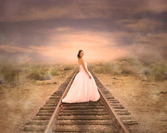 Train Track, Digital Background, Digital Backdrop, Instant Download, Digital Scrapbook, Backdrop, Portrait Background, Portrait Studio, Art