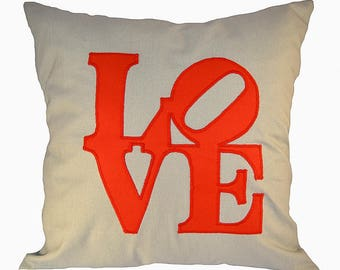 Love Pillow Mother's day Love pillow case  Valentine's Day   tthrow a pillow  love you    a gift for her   pillowcase,   decorative pillow