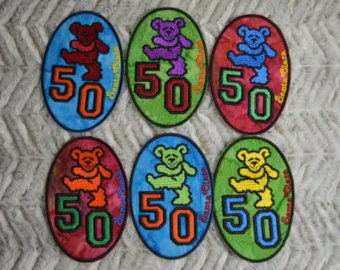 Dancing Bear 50th Anniversary Patches