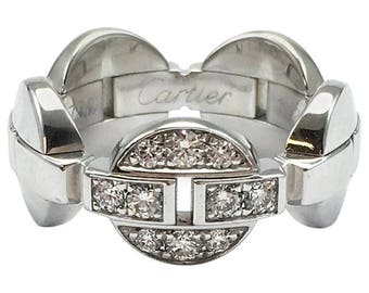 Cartier Himalia White Gold Diamond Band Ring