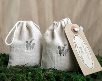 2 Cotton Muslin Sachets - Lavender