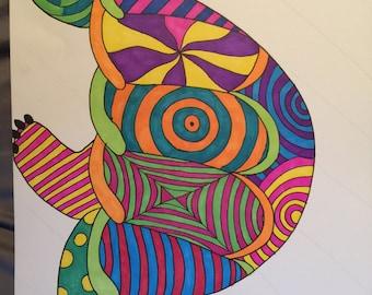 Hippy Turtle Art