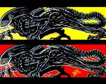Aliens Movie Pop Art 17x11 Print