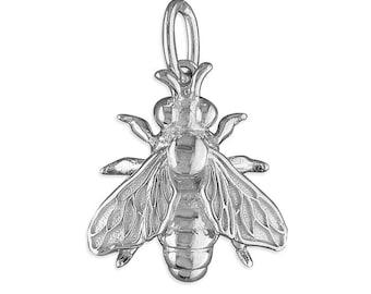 Honey Bee Sterling Silver Pendants