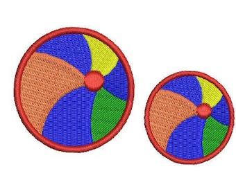 NeedleUp - Beach Ball embroidery design