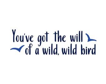 The Killers Lyric Temporary Tattoo - 'Wild, Wild Bird'