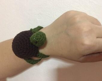 Multipurpose Little Turtle Wristband PinCushion / Crochet PinCushion / Crochet Baby Toy / Crochet Home Decorate / Crochet Girl Wristband