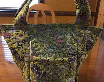 Quilted, Plastic Lined, Lunch Bag