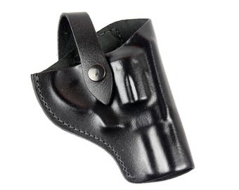 2 Snub nose revolver genuine leather Belt gun holster