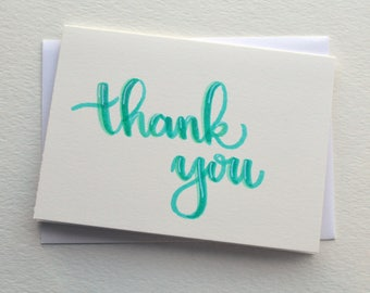 Handmade Thank You Cards - Set of 5