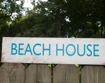 """Beach Wood Sign 