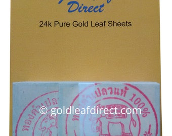 24K PURE EDIBLE 100% GOLD Leaf Sheets X 100