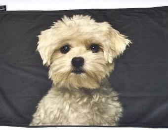 Maltese gift, Maltese blanket, Maltese portrait blanket, Maltese print blanket, dog lover blanket, dog lover blanket, Maltese present, K003