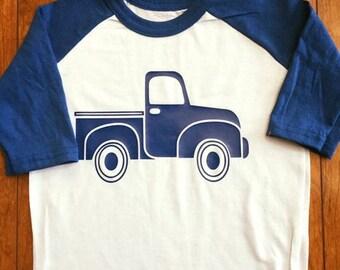 Blue Truck Baseball Tee