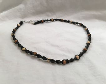 Black & Earth Tone Choker