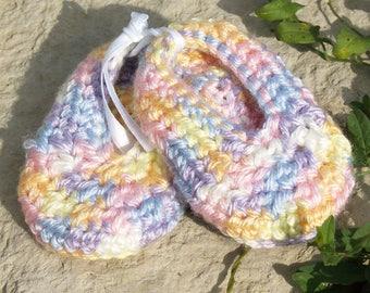 Rainbow Crochet Baby Booties