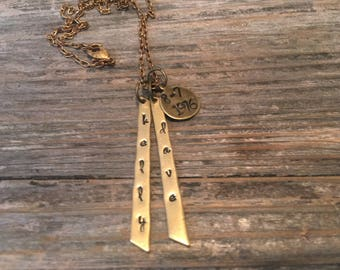 Name and date Anniversary necklace