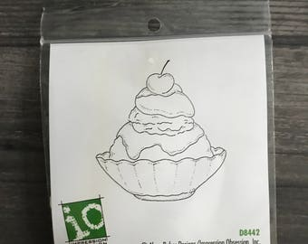 Impression Obsession Small Ice Cream Sundae Cling Stamp