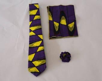 African Print Tie set