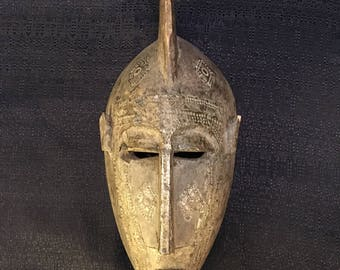 Handcarved Tribal Mask from Bamana, Mali