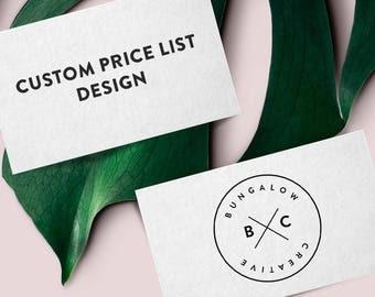 Custom Price List Design