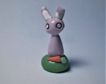 Bunny Figurine / Polymer Clay