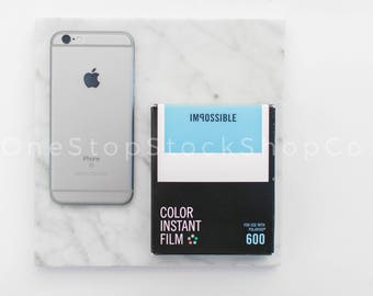 iPhone Flat Lay / Instagram Stock Photo / Office Flat Lay / Stock Photo / OneStopStockShopCo
