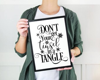 Don't get your tinsel in a tangle SVG Cutting File