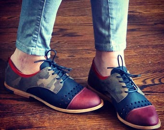 WOMEN'S VENTED OXFORD / brogue shoes / artisan / handcrafted / flats / custom shoes / lace ups