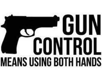 Gun Control Decals Etsy - Custom gun barrel stickersgun decals shotgun barrel sticker shooting ammo decal