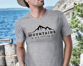 Mountains are calling shirt the mountains are calling shirt hiking shirt mountain shirt camping shirt nature shirt mountains are calling tee