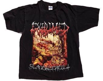 Exhumed - Slaughtercult Tour Vintage Death Metal T-shirt Large Deceased Morbid Angel Carcass Napalm Death