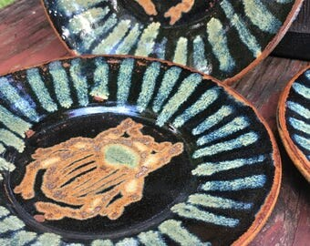 Stoneware Beetle Plates