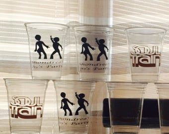 Soul Train Party Cups, Retirement Party, 70s Birthday Party, Old School, Party Favors