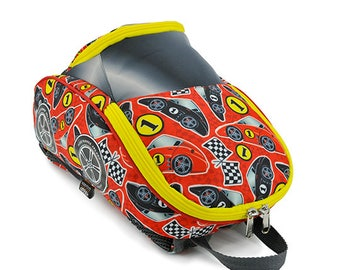 Personalized  Racing Car Children's Backpack (Red Racer)