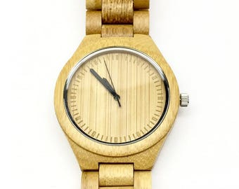 Wood Watches for Men, Wooden Watch, Natural Wood, Leather Watches for Men, Boyfriend Gift, Engraved Watch Men, Gifts for Dad, Groom Gift
