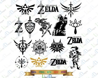 Legend Of Zelda SVG Zelda breath of the wild Zelda gift Silhouettes Zelda Clip art Zelda decor Zelda shirt svg eps dxf png cutting files