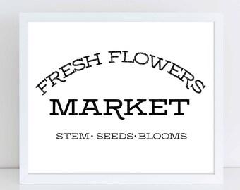 Fresh Flower Market Sign | Fresh Cut Flowers | Fresh Cut Signs |  Farmhouse Decor| Farmhouse Sign| Farmhouse Wall Decor| Farmhouse Kitchen