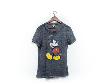 Official, Walt Disney, Mickey Mouse, Tshirt, classic, Vintage, medium, Soft, paper Thin, rare, Disneyland, Walt Disney World