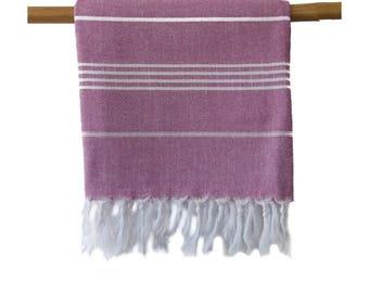 Iris Magenta Turkish Towel Peshtemal