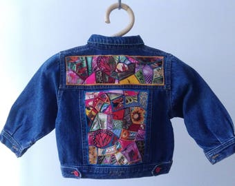 Custom, kids denim jacket, size 2 years