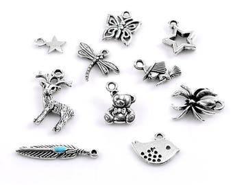 Small silver Dragonfly charm