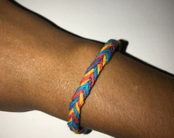 Fish tail braided bracelet