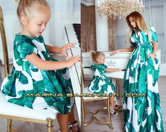 Family Look Mother & Daughter Matching Outfit, set of 2 Dresses